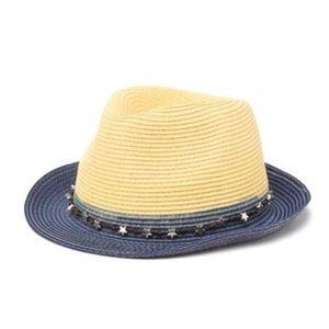 Ultrabraid Blue Ombre Fedora Hat with Star Trim